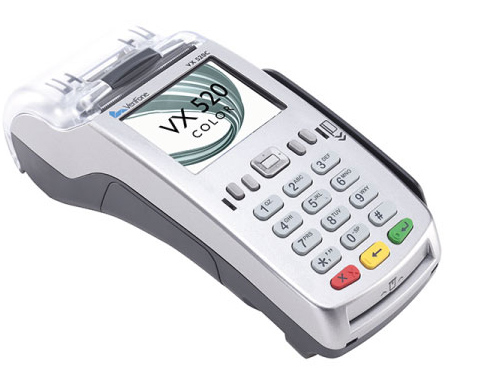Credit Card Processing Equipment VX520 Color